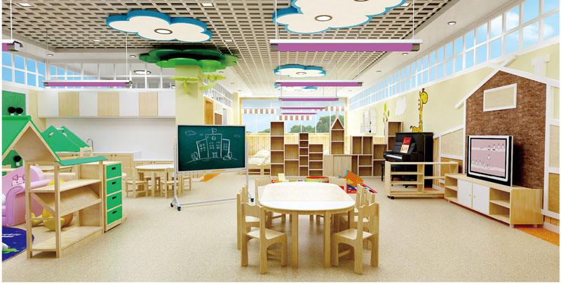 中国田园风系列-幼儿园课室装修效果