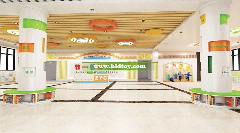 中国田园风系列-幼儿园大堂装修效果