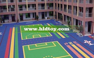 幼儿园太阳花格地板