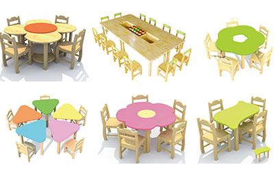 幼儿园桌椅生产厂家 幼儿园课桌椅批发