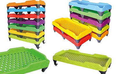 欢乐岛品牌幼儿园儿童塑料床批发直销 高端儿童午休床