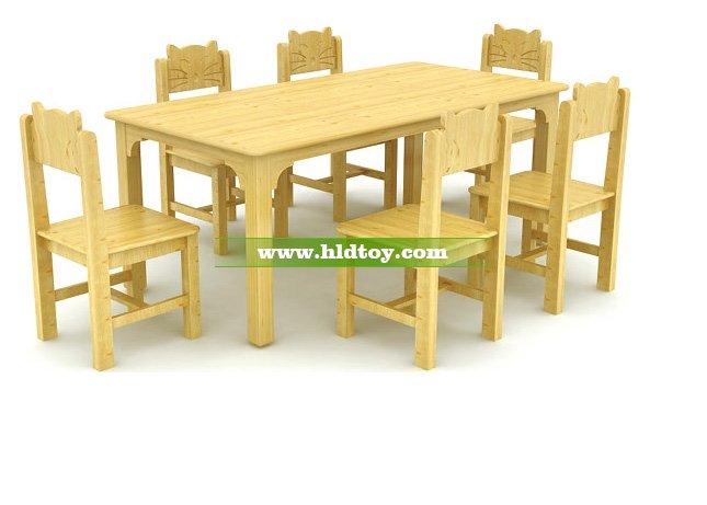 幼儿园六人桌椅HG-3903