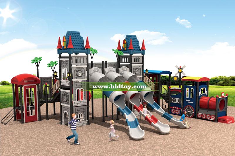 户外大型儿童滑梯 欧式小城堡可定制